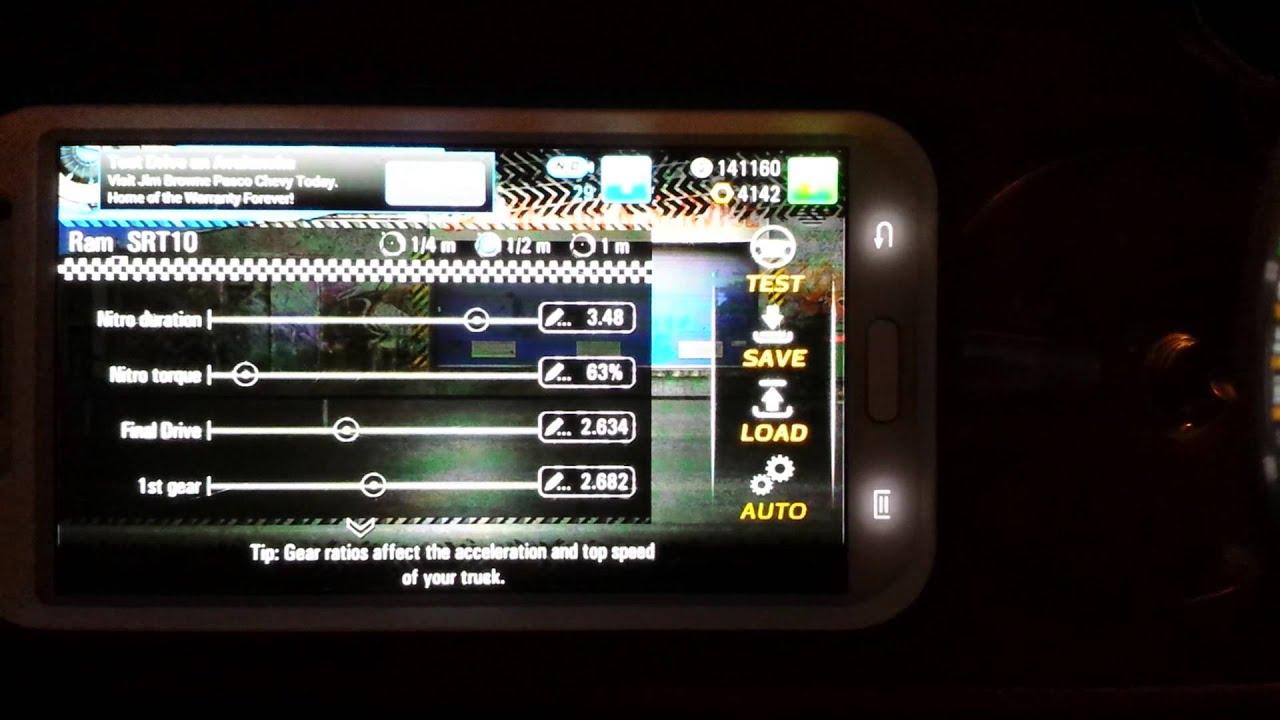 Tune drag racing 4x4 Ram level 7 - YouTube