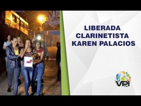 Caracas - Liberada la clarinetista Karen Palacios luego de permanecer 42 días detenida  - VPItv