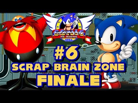 Sonic the Hedgehog Sega Genesis - (1080p) Part 6 FINALE - Scrap Brain Zone