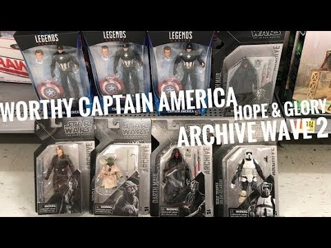 a0ac6e30786c6 EP105- New 2019 Star Wars Black Series Archive Wave 2 Yoda/ Worthy Captain  America Hope And Glory