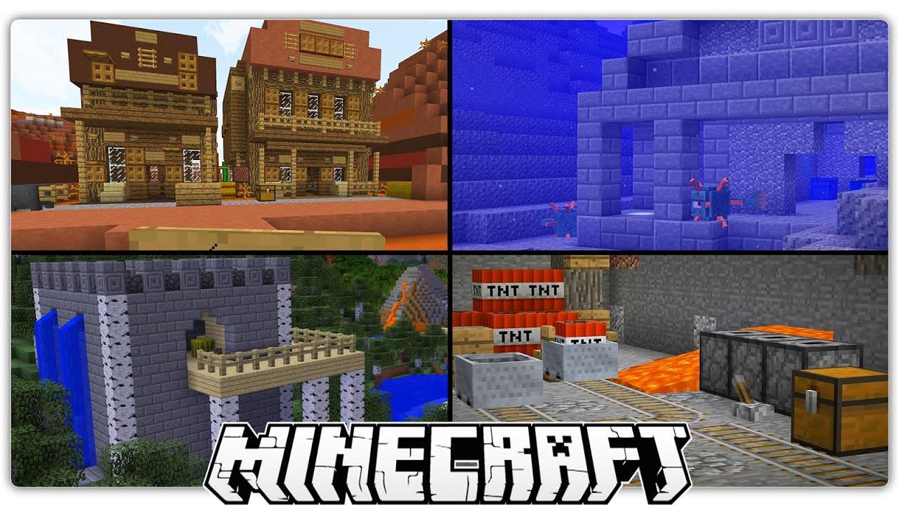 Secret Minecraft Dungeons You Can Make Spawn In Your Worlds YouTube - Minecraft hauser verschonern