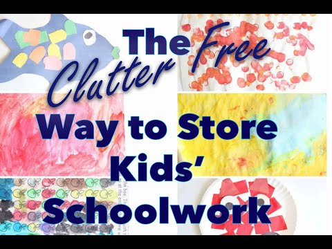 How to Store and Organize Your Child's Schoolwork