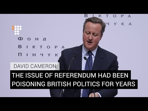 "'It Was The Right Thing To Do"": Former UK PM About the Referendum On 'Brexit'"