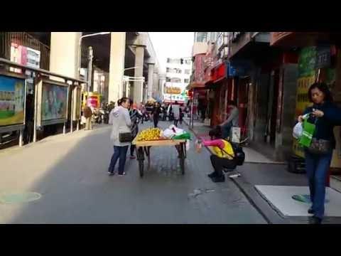 Street view walk through in Urumqi china
