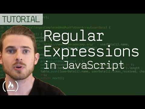 Regular Expressions (Regex) in JavaScript Tutorial