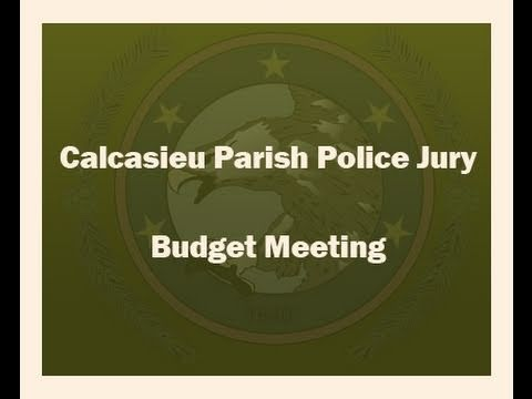 Police Jury Annual Budget Presentation 11/18/10