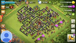 This is the best th 10 Trophy🏆🏆 Push Base for Champion  And Titan League (Scorpion Troll Base).