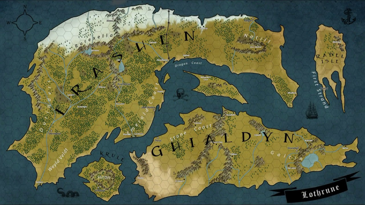Dungeons And Dragons Map Dungeons & Dragons   Photoshop Start to End   Lothrune World Map