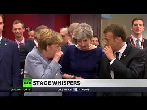 What were Merkel, Macron & May whispering about?