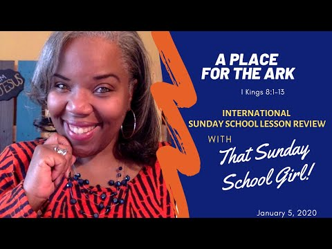 📚🙌🏾❤️Sunday School Lesson: A Place For The Ark   January 5, 2020