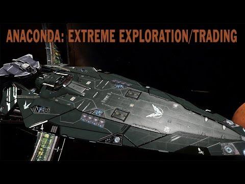 Elite:Dangerous. Anaconda - Extreme Exploration and Trading build