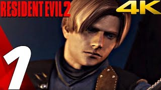 Resident Evil 2 HD - Gameplay Walkthrough Part 1 - Prologue (Leon) 4K