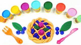 Play-Doh oyun hamuru ile yaban mersinli turta