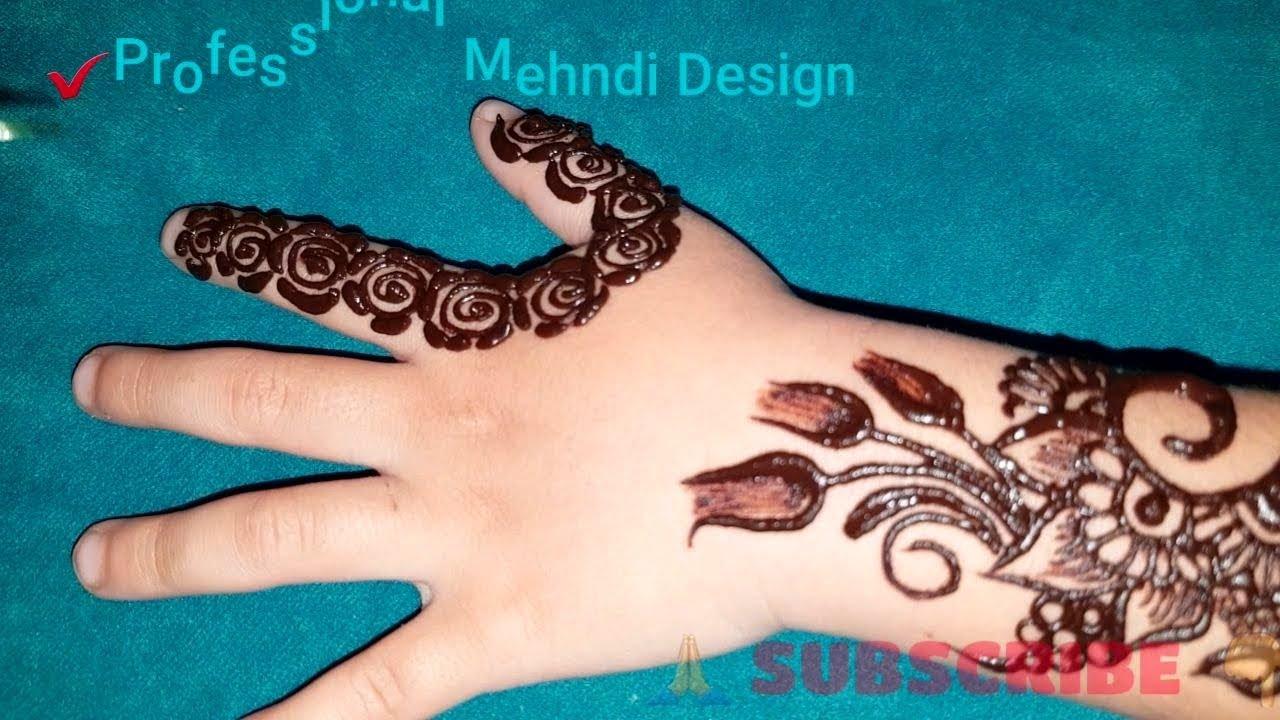 Simple Easy Mehndi Design for babygirl