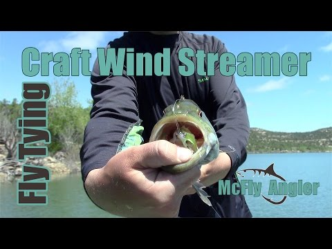 Craft Wind Streamer - UNDERWATER FOOTAGE - For Bass And Pike - McFly Angler Fly Tying