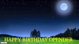 Opender  Moon La Luna - Happy Birthday