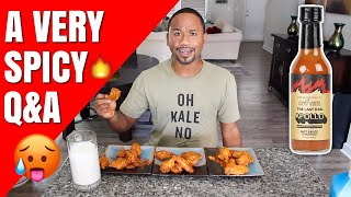 Trying HOT ONES Wings answering Spicy Questions   The Last Dab   Alonzo Lerone