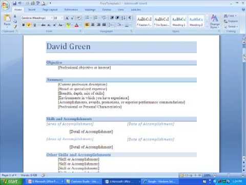 Proper Resume. Format Success Sample Simple Examples. Good Resume