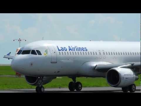 Lao Airlines 帰国チャーター便・静岡から福岡へ 2012/09/01