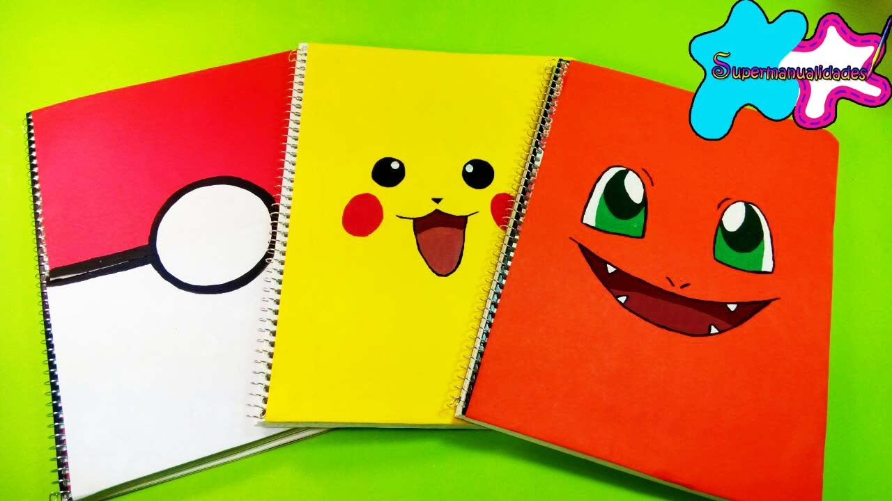 3 Ideas To Decorate Your Notebooks With Pokemon