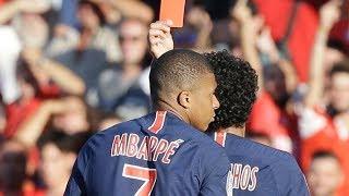 Kylian Mbappé straight red card vs Nimes