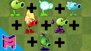 "Plants vs Zombies Fusion Hack Animation ( ""All"" Peashooters )"