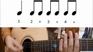吉他右手基本節奏概念 ( 別再下上下上了...)