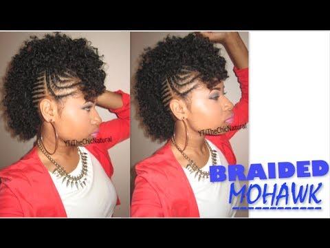 #BAWSE BRAIDED MOHAWK | Natural Hair Tutorial - YouTube