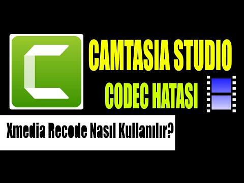 Camtasia Studio 9 Codec Hatası Çözüm Techsmith Xmedia Recode