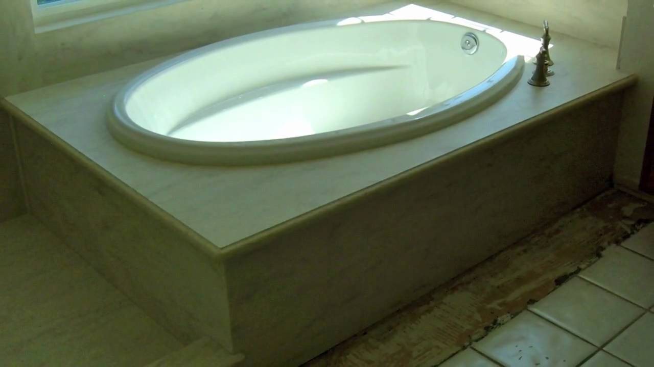 Corian Shower Surround from Olive Mill - YouTube