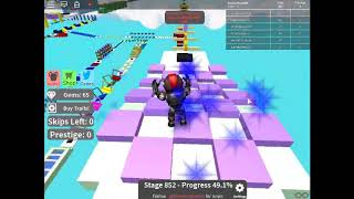 Past the lv852 very easy 🌈 Mega Fun Obby [1735 Stages] 🌈 ROBLOX