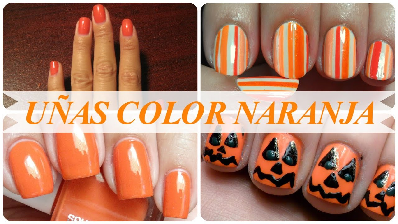Uñas color naranja