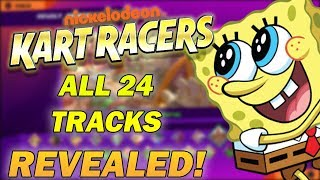 Nickelodeon Kart Racers EVERY TRACK REVEALED!!!