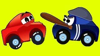 Мультфильм для детей про ИГРЫ Красная Машинка и Гонки