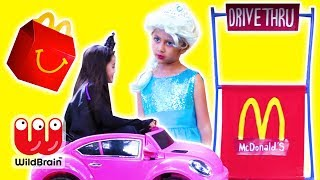 Malice Takes Happy Meal! McDonalds Drive Thru Prank - Princesses In Real Life | WildBrain Kiddyzuzaa