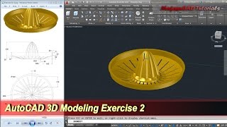 AutoCAD 3D Modeling | Citrus Juicer Tutorial | Exercise 2