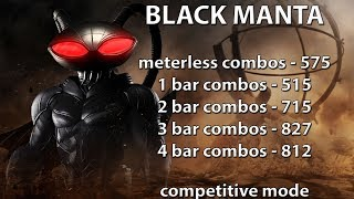 Injustice 2: Black Manta combo guide. Beginner/advanced. Damage up to 827. Coolest hero ever!