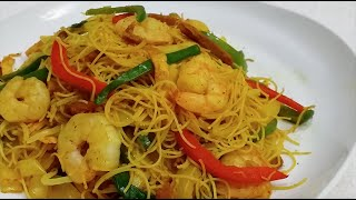 How to Make Singaporean Fried Rice Noodles ( Healthy Version ) | 星洲炒米 ( 健康版 )