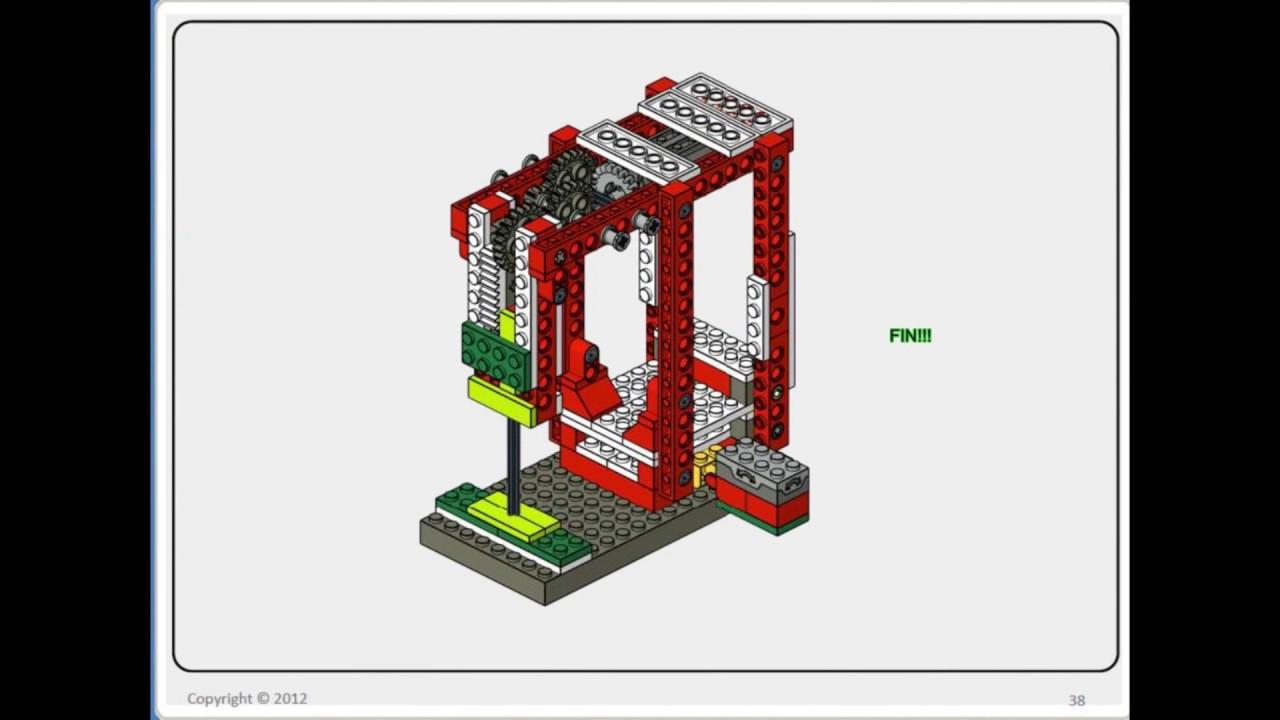 Máquina de coser Lego WeDo (Montaje) (Sewing machine)