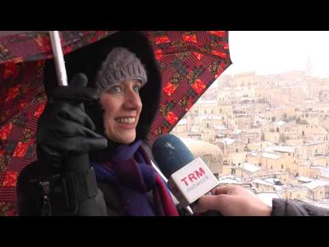 Neve in Basilicata. Imbiancati i Sassi di Matera