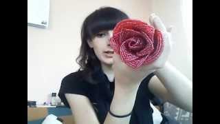 Моя роза из бисера