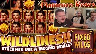 WILD LINE?!?!! Flamenco Roses BIG WIN - HUGE WIN - Casino games from LIVE stream