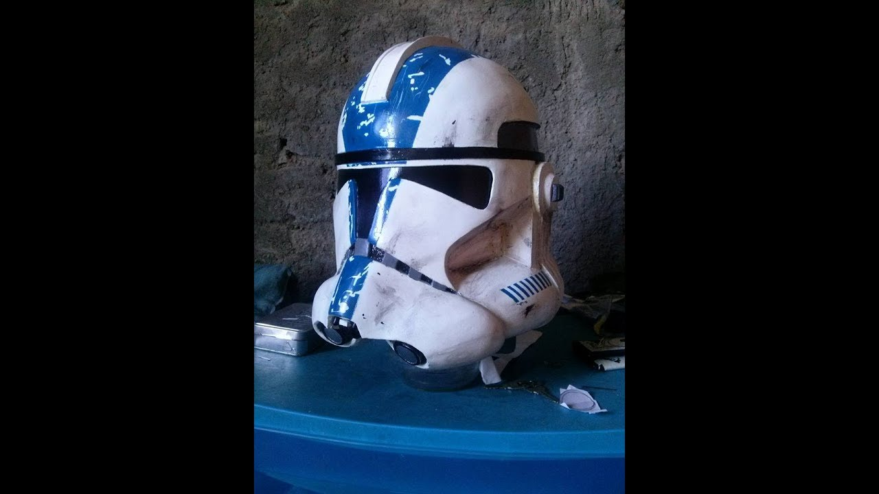 Haciendo un casco de clone trooper 501 parte 1 pepakura - Make a ...