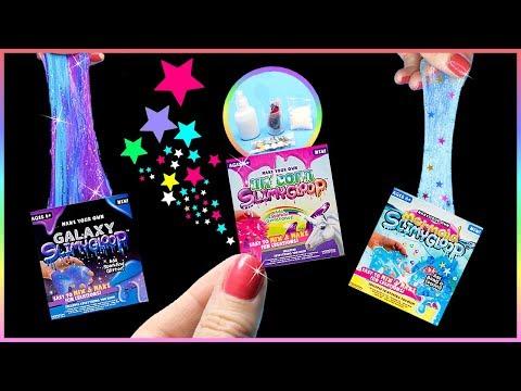 DIY Miniature $5 Slime Kits! Unicorn, Mermaid, Galaxy Slime DIYs - Tiny Slime Kits Tested!