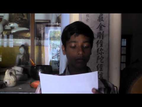 13 岁印度小孩念梵文的《佛说阿弥陀经》