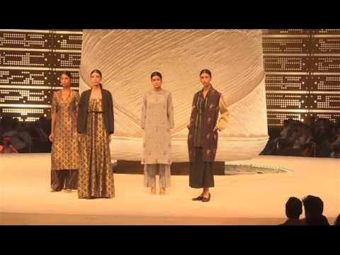 Textile Expo fashion show at Textile India 2017 in Gandhinagar