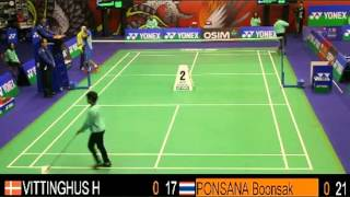 QF - MS - Boonsak PONSANA vs Hans-Kristian VITTINGHUS - 2013 Hong Kong Open
