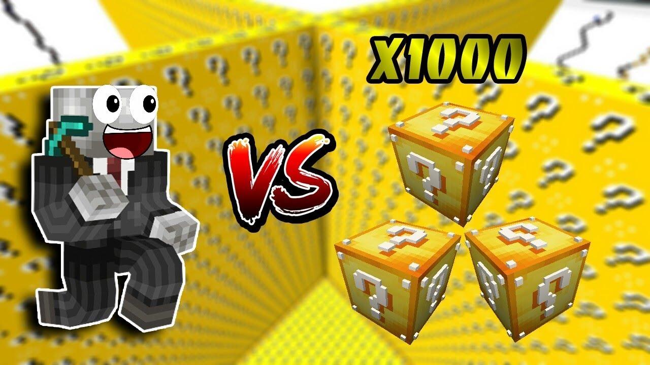 THỬ ĐẬP 1000 LUCKY BLOCK TRONG MCPE | Thử Thách SlenderMan | Minecraft PE 1.2