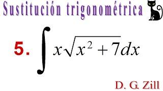 Integración por sustitución trigonométrica. Zill 7.5_5