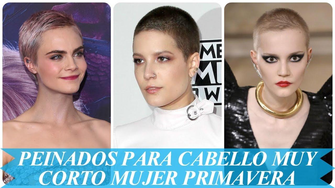 Nuevos Peinados Para Cabello Muy Corto Mujer Primavera 2018 Youtube